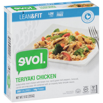 EVOL, Lean & Fit Teryaki Chicken 9.0 oz. (1 Count)