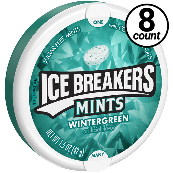 Ice Breakers Mints, Sugar Free Wintergreen 1.5 oz. (8 Count)