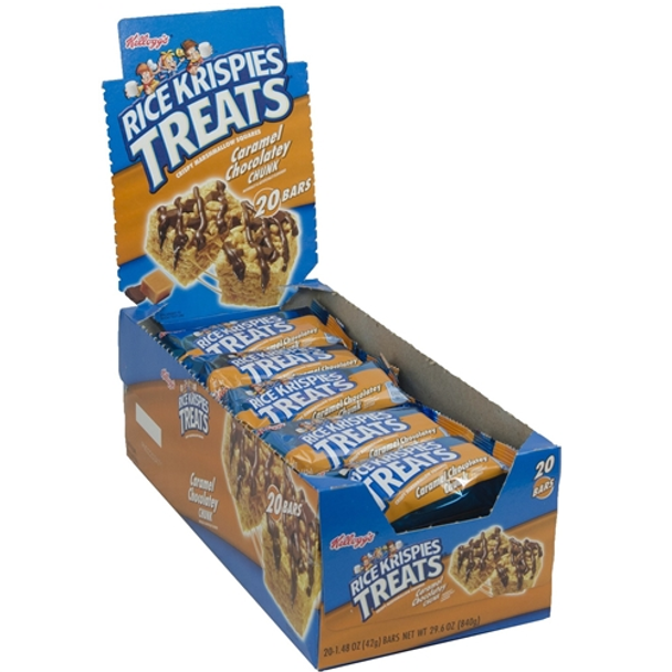 Kellogg's, Rice Krispies Treats, Caramel Chocolatey Chunk, 1 48 oz  Bars  (20 Count)