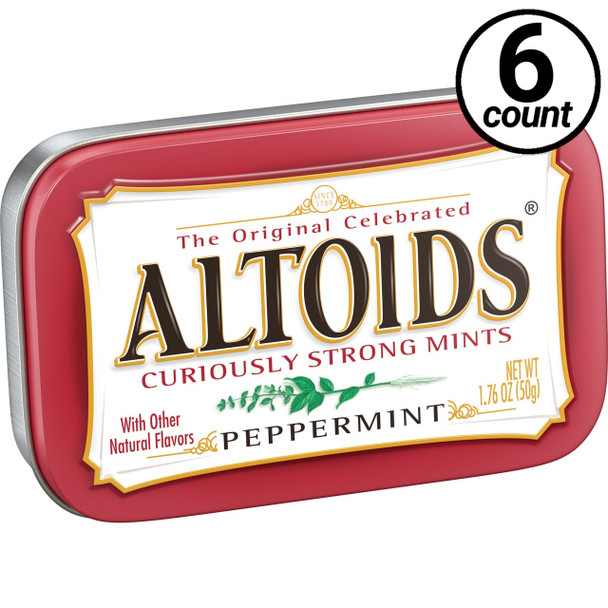 Altoids, Peppermint, 1.76 oz. Tins (6 Count)