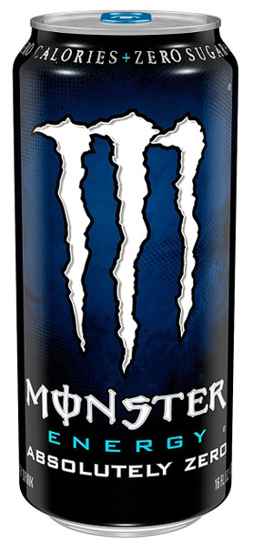 Monster Energy Drink, Absolutely Zero, 16.0 oz. Can (1 Count)