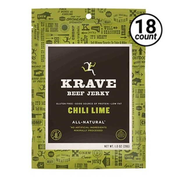 Krave Jerky, Beef/Chili Lime, 1 oz. Bags (18 count)