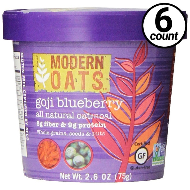 Modern Oats Goji Blueberry Oatmeal 2.6 oz. cup (6 count)