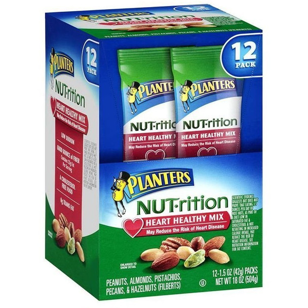 Planters Nut-rition, Heart Healthy Mix, 1.5 oz. bag (12 count)