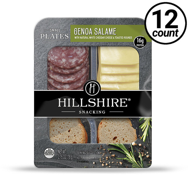 Hillshire Snacking Plates, Genoa Salame & Cheddar, 2.76 oz. (12 count)