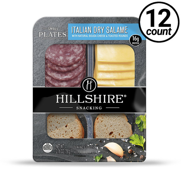 Hillshire Snacking Plates, Italian Dry Salame & Gouda, 2.76 oz. (12 count)