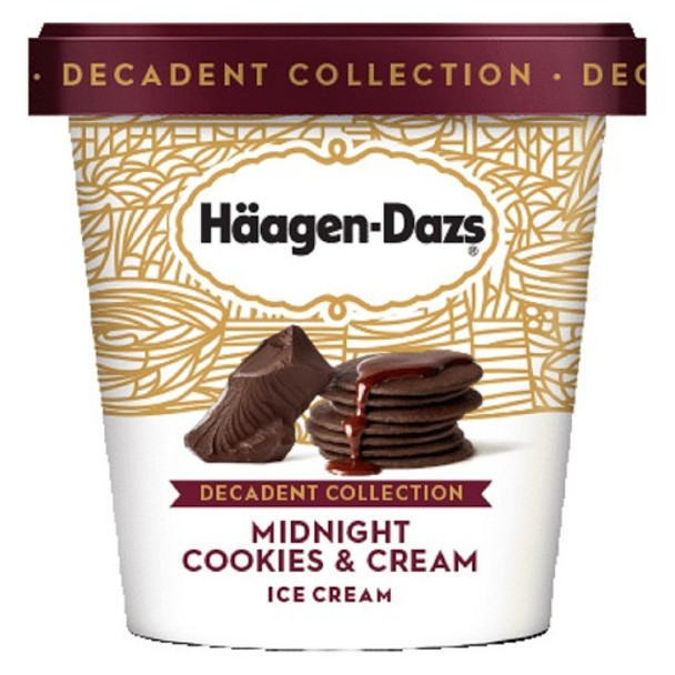 Häagen-Dazs, Decadent Collection Midnight Cookies Cream, Pint (1 count)