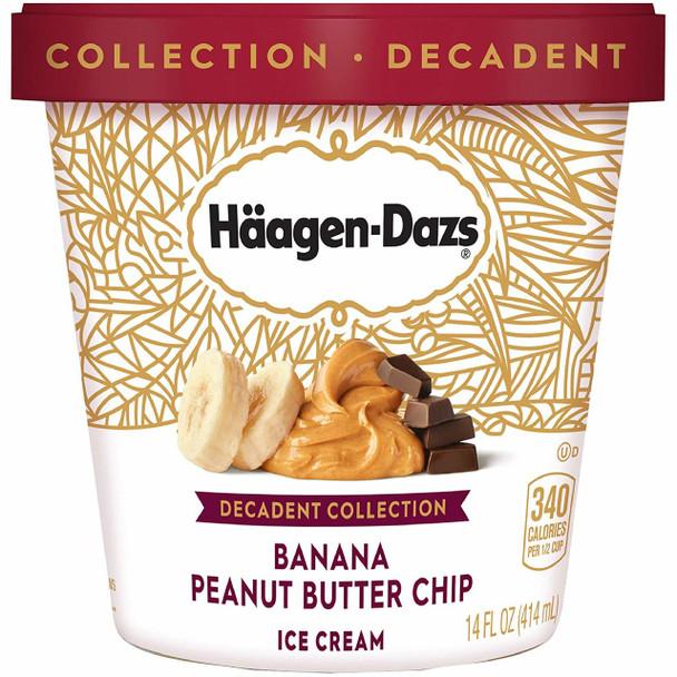 Häagen-Dazs, Decadent Collection Banana Peanut Butter Chip, Pint (1 count)