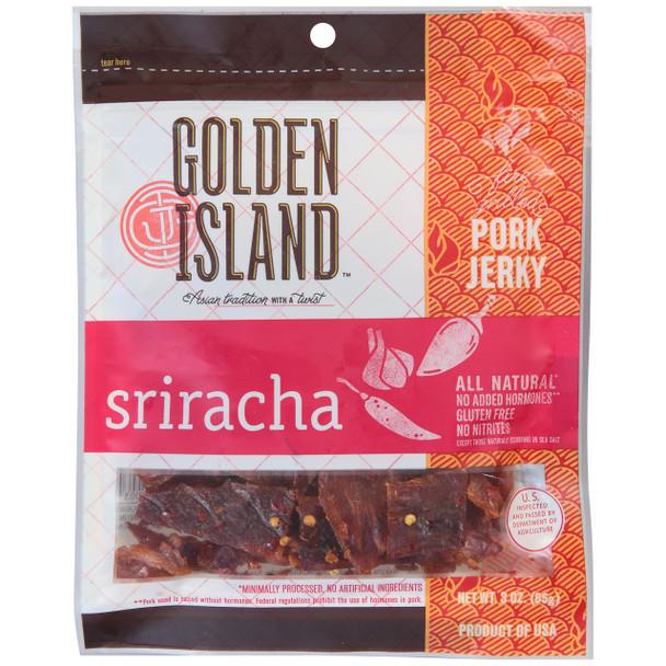 Golden Island, Beef Jerky Siracha 3.0 oz. (1 count)