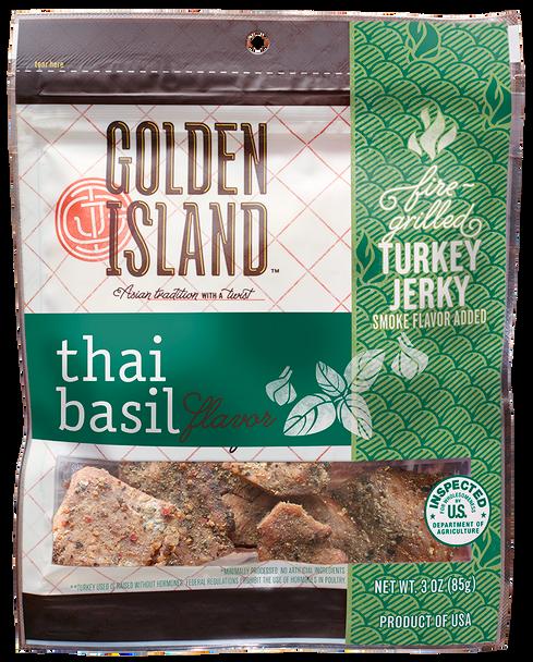 Golden Island, Turkey Jerky Thai Basil 3.0 oz. (1 count)
