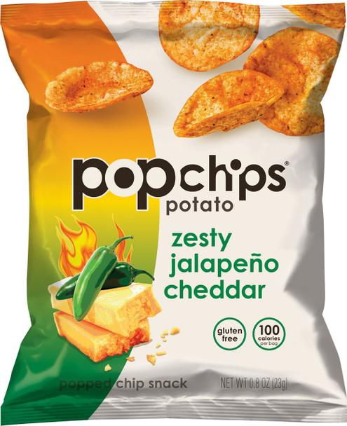 Popchips, Zesty Jalapeno Cheddar, 0.8 Oz. Bag (1 count)