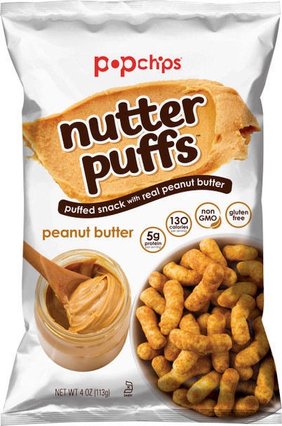 Popchips Nutter Puffs, Peanut Butter 4.0 Oz (1 Count)