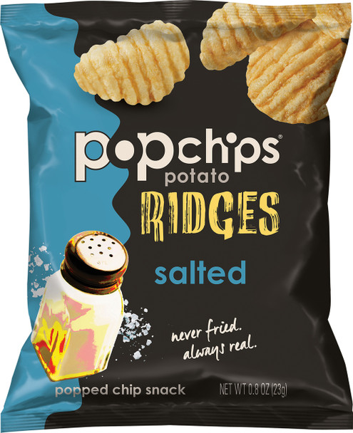 Popchips Ridges, Perfectly Salted, 0.8 Oz (1 Count)