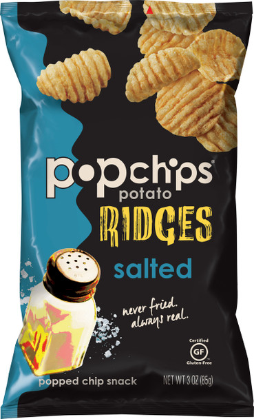 Popchips Ridges, Perfectly Salted, 3.0 Oz (1 Count)