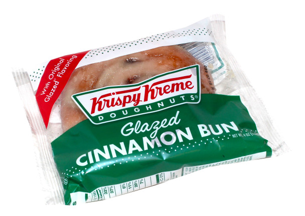 Krispy Kreme, Glazed Cinnamon Buns, 4 Oz (12 Count)