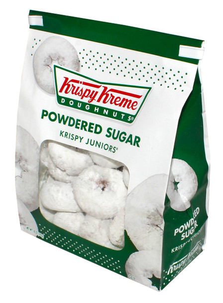 Krispy Kreme, Powdered Sugar Doughnuts, 10 Oz Bag (12 Count)