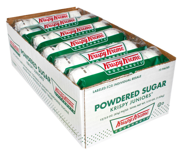 Krispy Kreme, Powdered Sugar Doughnuts, 3 Oz Pack (12 Count)