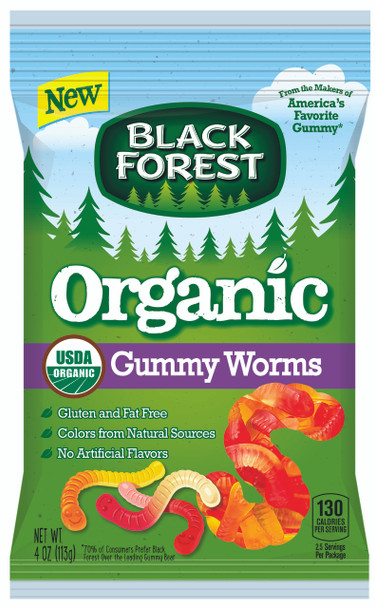 Black Forest Organic Gummy Worms 4.0 Oz (1 Count)