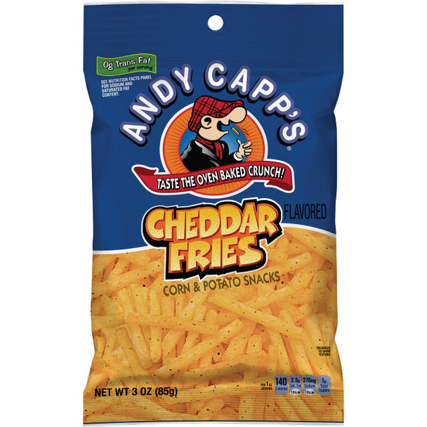 Andy Capp's Cheddar Fries, 3.0 oz. bag (1 count)
