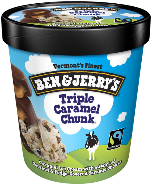 Ben & Jerry's, Triple Caramel Chunk Ice Cream, Pint (1 Count)