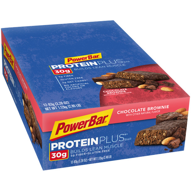 PowerBar Protein Plus, Chocolate Brownie, 3.28 Oz Bar (12 Count)
