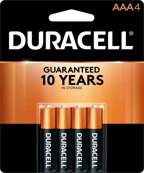 Duracell Batteries, Alkaline AAA, 4-Pack (1 Count)