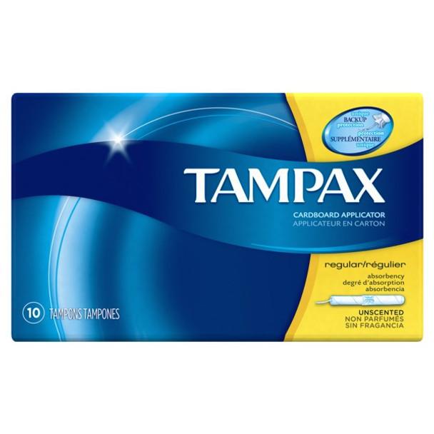 Tampax Original, Regular, 10-Tampons Pack (12 Count)