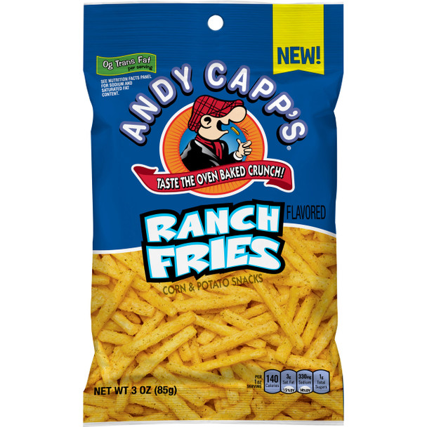 Andy Capp's Ranch Fries. 3.0 oz bag (1count)