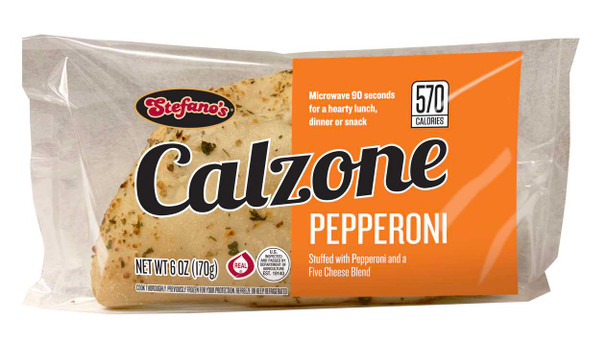 Stefano Foods, Pepperoni Calzone, 6 oz. (12 count)