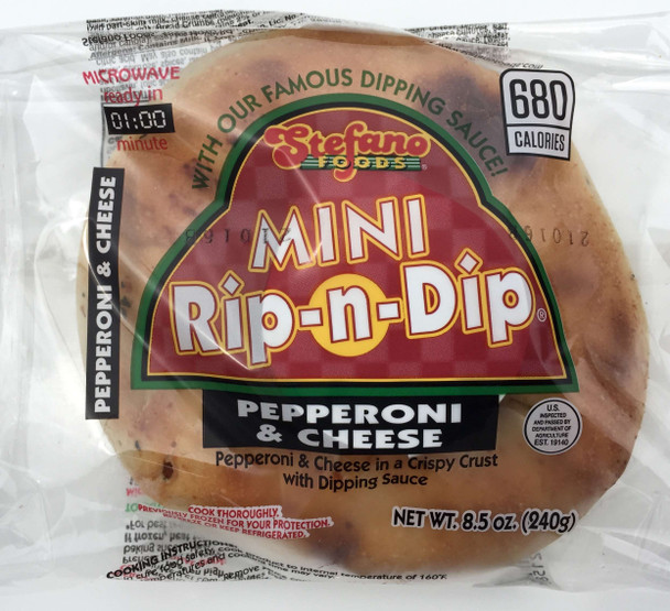 Stefano Foods, Pepperoni Pizza Rip N Dip, 8.5 oz. (12 Count)