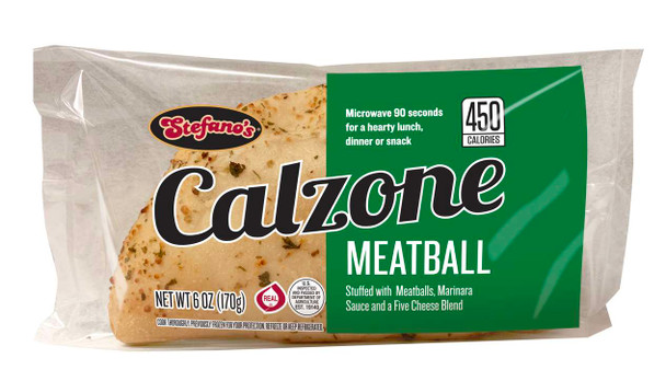 Stefano Foods, Meatball Calzone, 6 oz. (12 count)