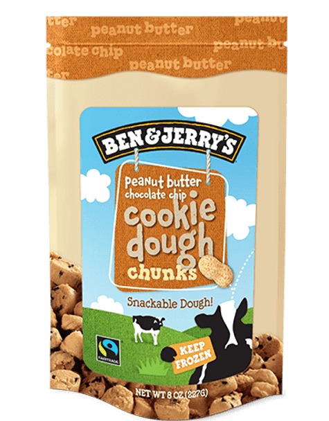 Ben & Jerry's, Peanut Butter Chocolate Chip Cookie Dough Chunks, 8 oz. (1 count)