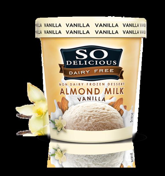 SO Delicious, Almond Milk Vanilla, 16 oz. Pint (1 count)