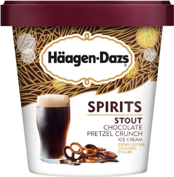 Haagen Dazs Spirits, Chocolate Stout Pretzel Crunch 14 oz. Pint (1 count)
