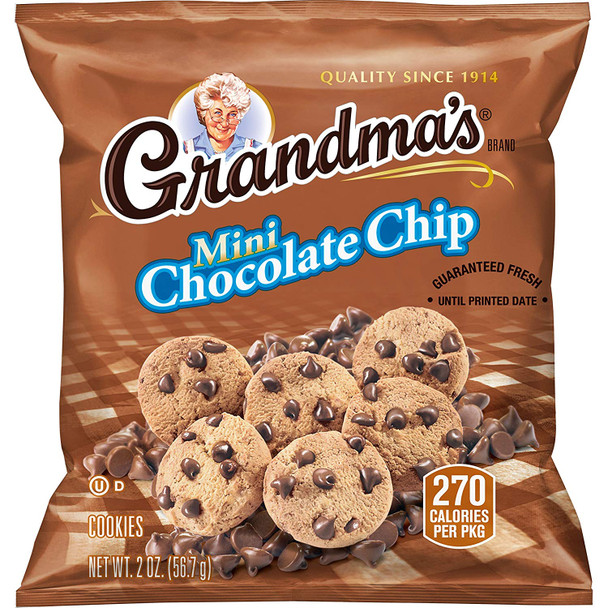 Grandma's Mini Cookies, Chocolate Chip, 2 Oz (1 Count)