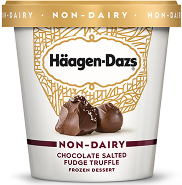 Haagen- Dazs, Non- Dairy Chocolate Salted Fudge Truffle, 14 oz. 'Pint' (1 count)