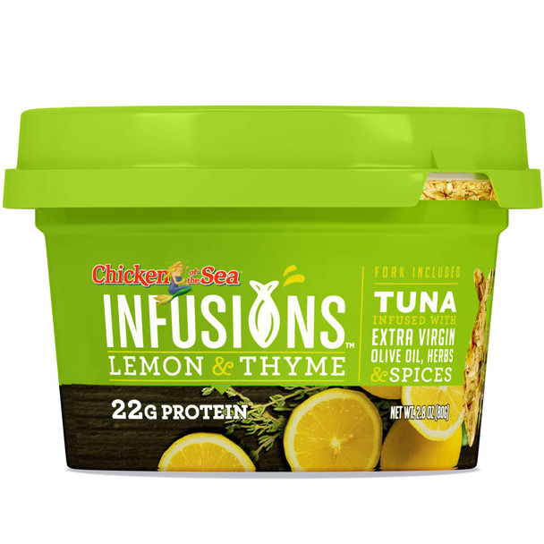 Chicken of the Sea Infusions,Tuna with Lemon & Thyme, 2.8 oz (1 count)