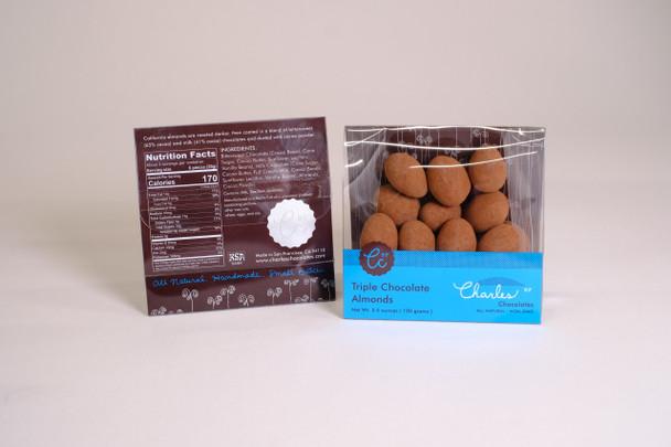 Charles Chocolates, MINI Chocolate Covered Almonds, 3.5 oz Bag (12 count)