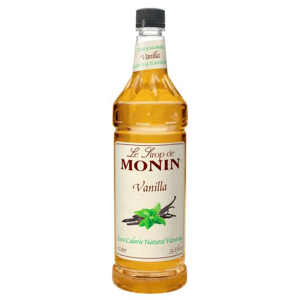 Monin, Zero Calorie Vanilla Syrup, 1 L. (4 Count)
