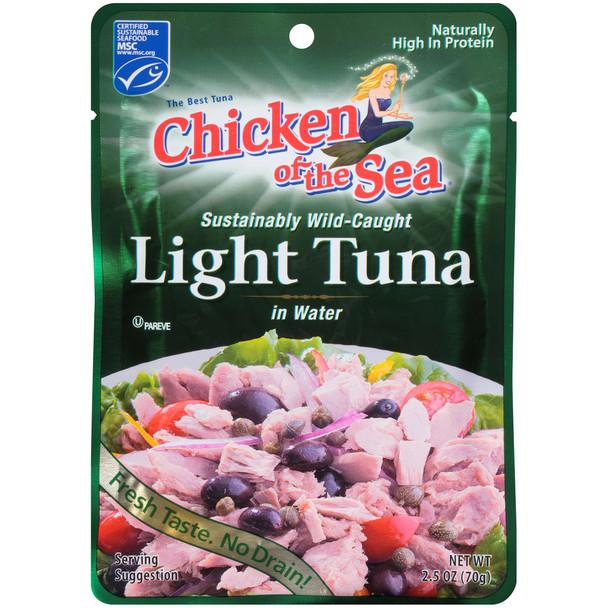 Chicken of the Sea, Lite Skipjack Small Pouch Tuna, 2.5 oz.  (12 count)