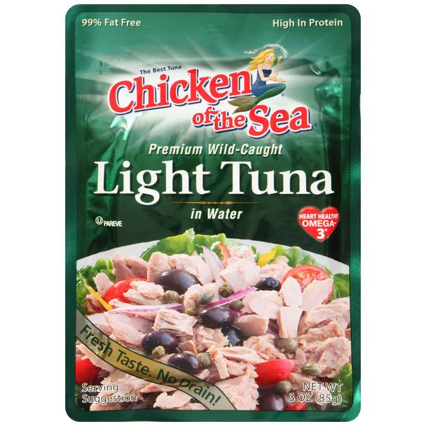 Chicken of the Sea, Premium LIght Tuna Pouch, 3 oz.  (24 count)