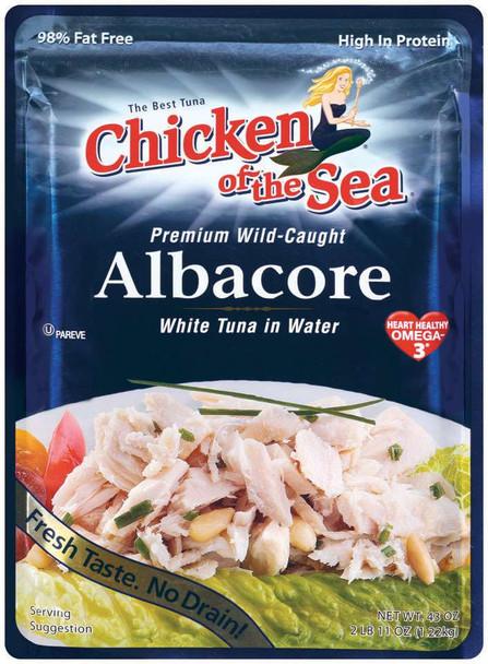 Chicken Of The Sea, White Albacore Tuna Chunks, 43 oz. (6 count)