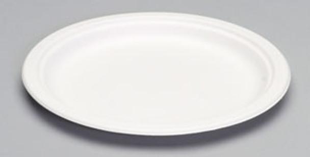 Genpak, Harvest Fiber Compostable 10 Inch Natural White Plate, (500 count)