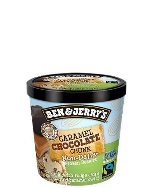 Ben & Jerry's Non-Dairy Chocolate Caramel Chunk Ice Cream Mini Cup, 3.60 oz. (12 count)