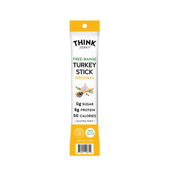 Think Jerky, Free-Range Turkey Stick, Original, 1 oz. (20 Count)