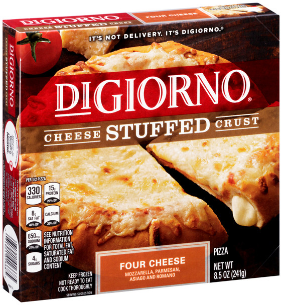 DiGiorno, Cheese Stuffed Crust Four Cheese Pizza, 8.5 oz. (10 count)