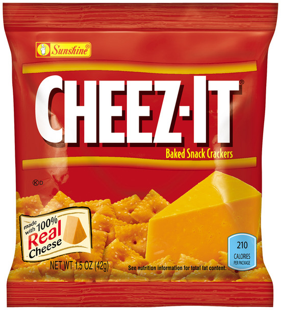 Cheez-It, Cheese Crackers, Original, 1.5 oz. Bag (1 Count)