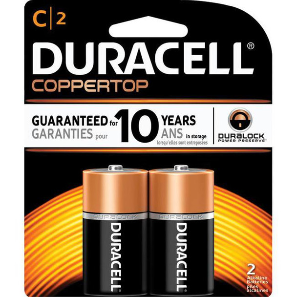 "Duracell, Coppertop, ""C"" cell, two pack"
