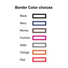 Fancy Embossed Note Cards Border Colors