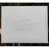 Custom Embossed Stationery Fold Notes with Modern Frame Border
